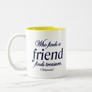 Irish Proverb Friend Quote Two-Tone Mug