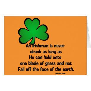 Funny irish birthday cards invitations zazzle irish proverb happy birthday greeting card m4hsunfo Gallery