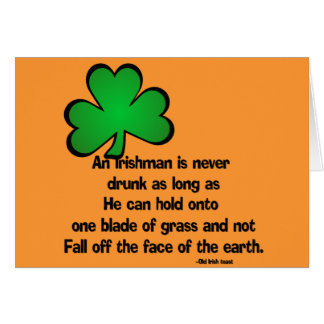 Irish Proverb Happy Birthday Greeting Card