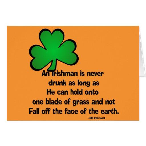 Irish Proverb Happy Birthday Greeting Card