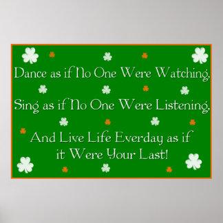 Irish Proverb Print