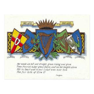 Irish provinces postcard