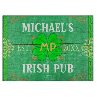 Irish Pub Create Your Own Home Bar Personalized Cutting Boards