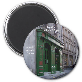 Irish Pub in St. Malo, France Magnet