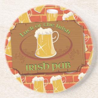 Irish Pub Sign Beverage Coasters