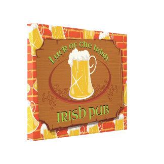 Irish Pub Sign Stretched Canvas Print