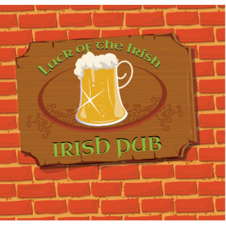 Irish Pub Sign Standing Photo Sculpture
