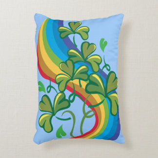 Irish Rainbow and Shamrocks Decorative Cushion