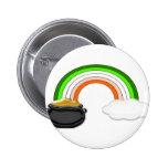 Irish Rainbow Pinback Button