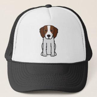 Irish Red and White Setter Dog Cartoon Trucker Hat