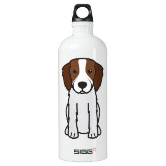 Irish Red and White Setter Dog Cartoon Water Bottle