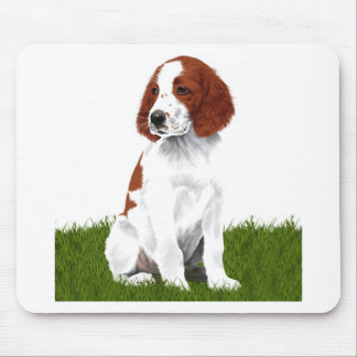 Irish Red and White Setter Puppy Mouse Mat
