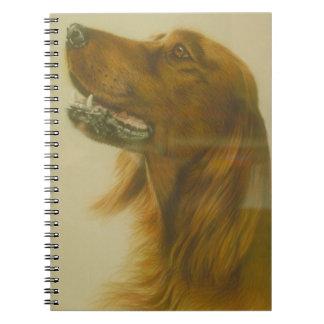 Irish Red Setter Dog Notebook