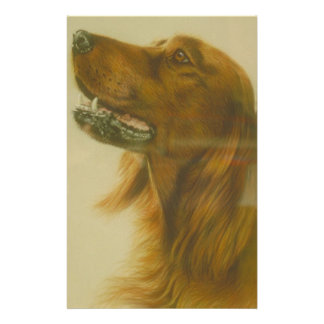 Irish Red Setter Dog Stationery