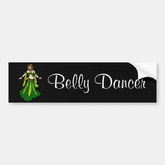 Irish Redhead Belly Dancer Bumper Sticker
