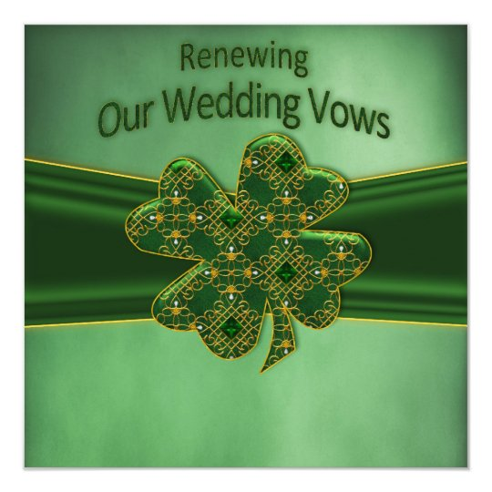 IRISH RENEWING WEDDING VOWS INVITATION