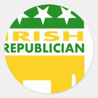 Irish Republician Round Sticker