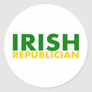 Irish Republician Round Sticker