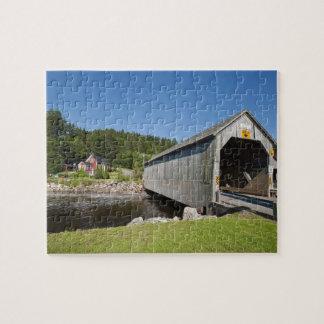Irish River covered bridge, St. Martins, New Puzzle
