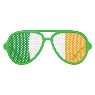 Irish ROI Ireland Flag Aviator Sunglasses
