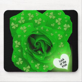 Irish Rose - Luck of the Irish Mouse Pad