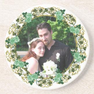 Irish rose photo Coaster