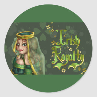 Irish Royalty Classic Round Sticker