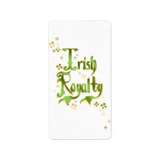 Irish Royalty Label
