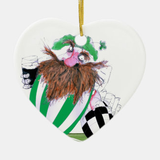 irish rugby ball, tony fernandes christmas ornament
