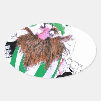 irish rugby ball, tony fernandes oval sticker