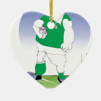 irish rugby player, tony fernandes christmas ornament