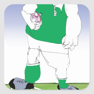 irish rugby player, tony fernandes square sticker