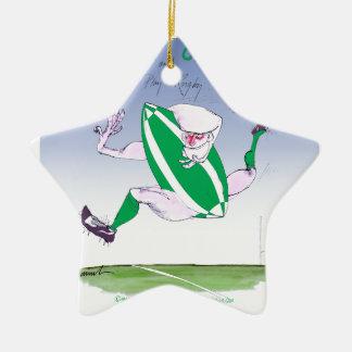irish rugby, tony fernandes ceramic star decoration
