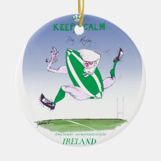 irish rugby, tony fernandes round ceramic decoration
