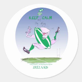 irish rugby, tony fernandes round sticker