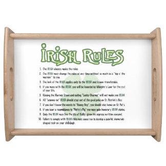 Irish Rules Serving Tray