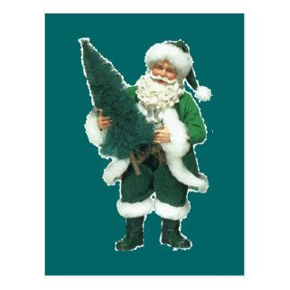 Irish Santa Postcard