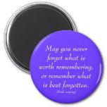 Irish saying on remembrances refrigerator magnet