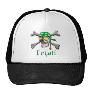 Irish Scull and Cross Bones Mesh Hat