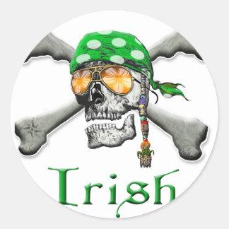 Irish Scull and Cross Bones Stickers