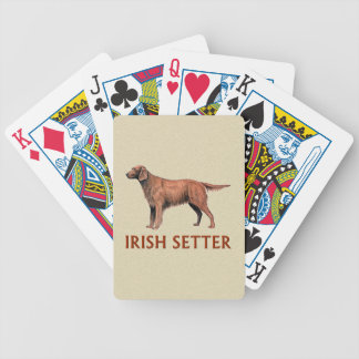 irish setter bicycle playing cards
