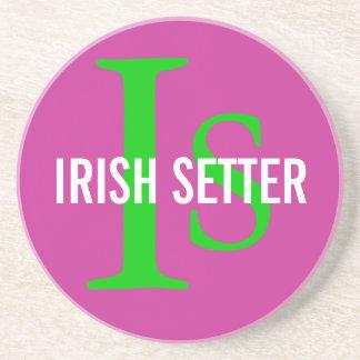 Irish Setter Breed Monogram Coaster
