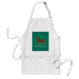 Irish Setter Dog Merry Christmas Design Standard Apron