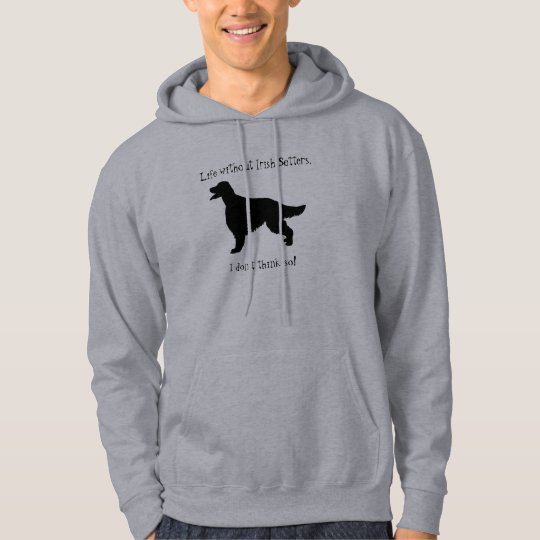 Irish Setter dog unisex mens, womens hoody