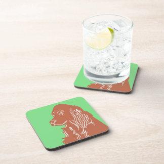 Irish Setter Green Coasters