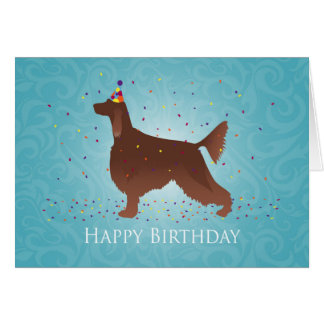 Irish Setter Happy Birthday Design Card