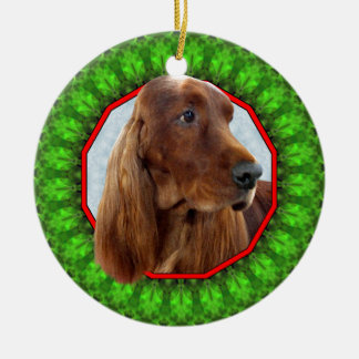 Irish Setter Happy Howliday Christmas Ornament