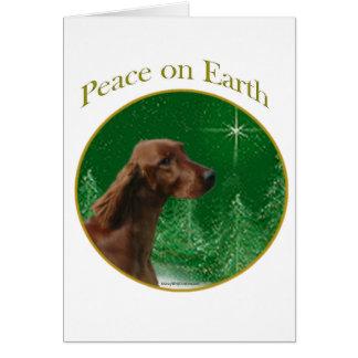 Irish Setter Peace Card