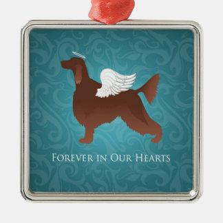 Irish Setter Pet Memorial Angel Dog Design Christmas Ornament