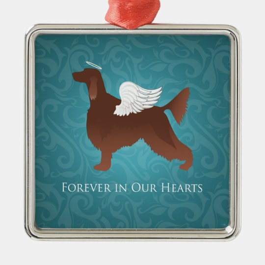 Irish Setter Pet Memorial Angel Dog Design Christmas
